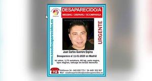 Imagen del cartel que ha difundido SOS Desaparecidos con la imagen del hombre desaparecido.