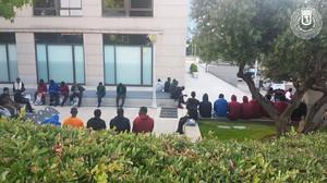 Los 45 inmigrantes llegados a la Estación de Méndez Álvaro.