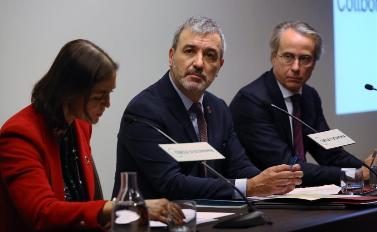 Jaume Collboni, durante su intervención en el Cercle d'Economia.