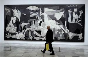 El Guernica expuesto en el Museo Reina Sofía de Madrid.