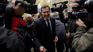 El líder del PP andaluz, JuanmaMoreno,a su llegada a uncomité ejecutivo nacional del partido.