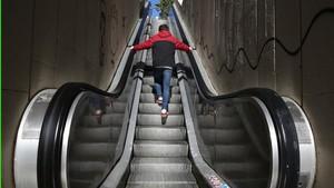Escaleras mecánicas en la Baixada de la Glòria, en Vallcarca.