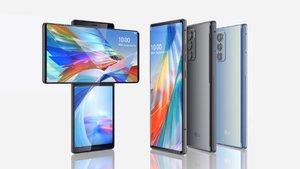 Smartphone LG Wing, con pantalla giratoria.