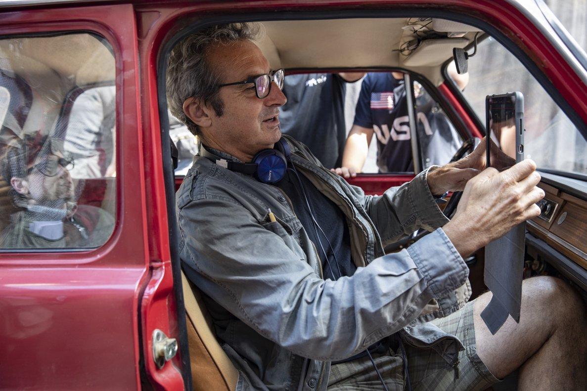 Mariano Barroso, durante el rodaje de la serie.