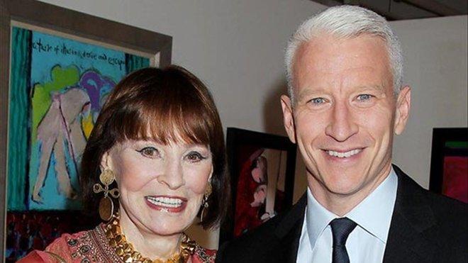 Gloria Vanderbilt y Anderson Cooper.
