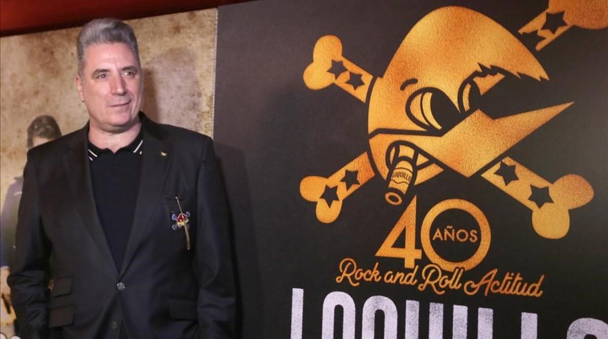 Loquillo, en la presentación en Madrid del disco 40 años de Rock n roll actitud