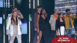 Los concursantes de 'OT 2020' cantando 'Video kills the radio star' en la gala 6.