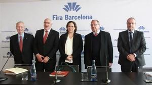 Barcelona i la Generalitat volen més dones al capdavant de la Fira