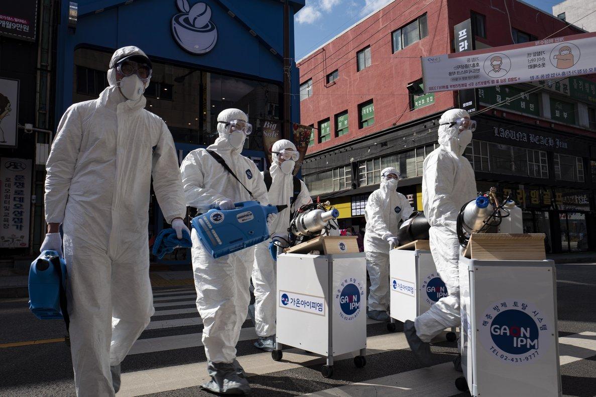 Lucha contra el coronavirus en Corea del Sur.