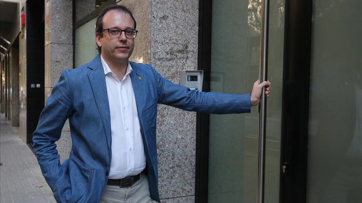 El portavoz del PDECat, Marc Solsona, en una foto de archivo.