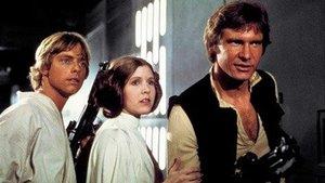 Mark Hamill, Carrie Fisher y Harrison Ford, en una escena de la película de 1977 'La guerra de las galaxias' 'Episodio IV: una nueva esperanza'.