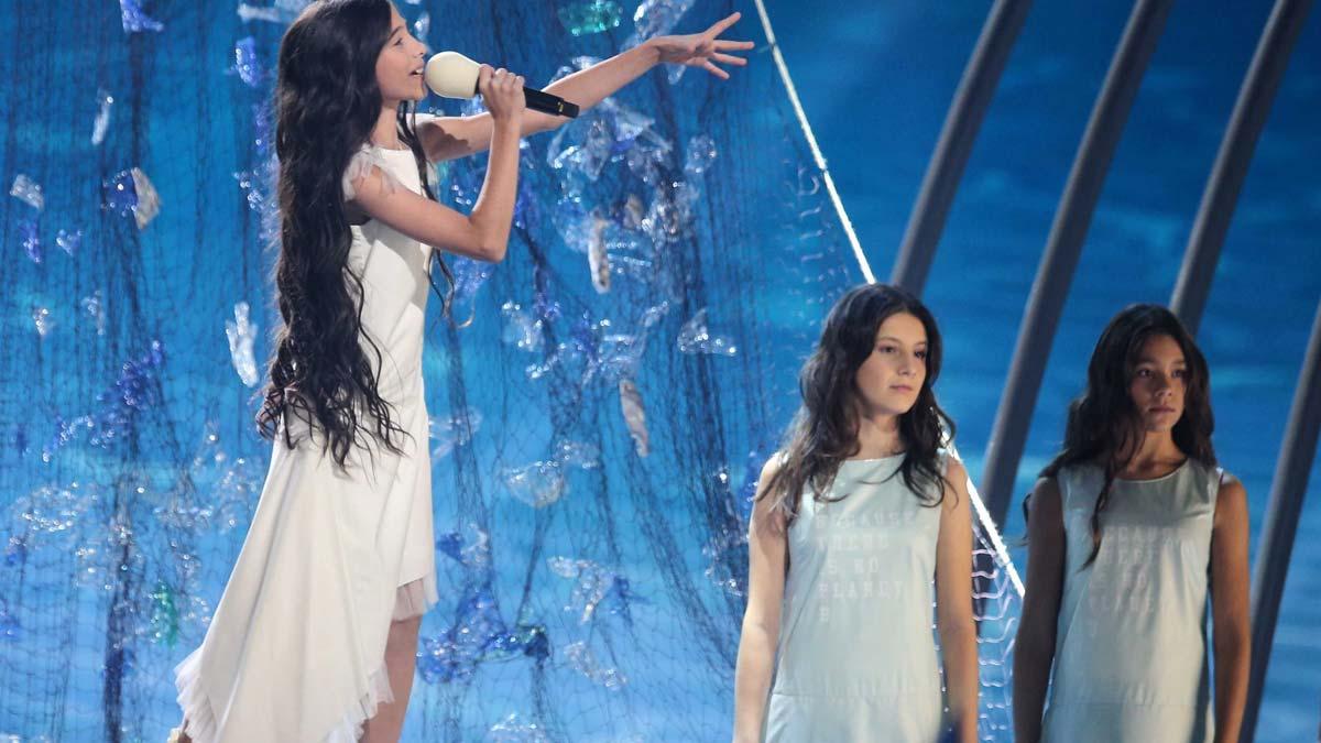 Melani queda tercera en Eurovisión Junior con el tema 'Marte'.