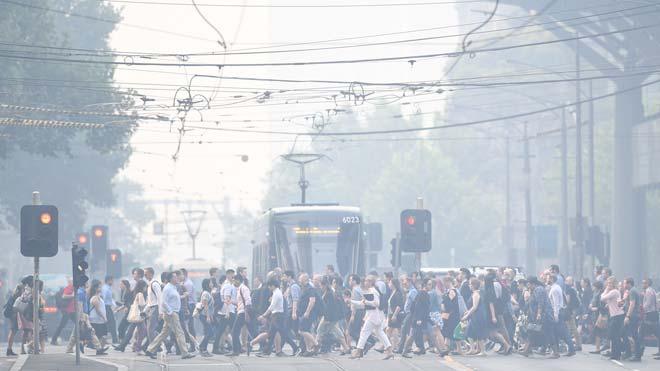Melbourne, considerada la zona con peor aire del mundo debido al humo de los incendios en Australia.