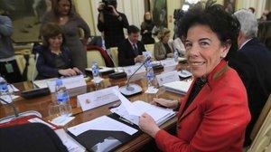 La minsitra de Educación, Isabel Celaá, en la Conferencia Sectorial.