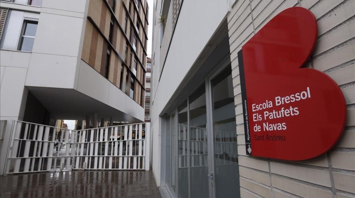 El parvulario Els Patufets de Navas, uno de los centros educativos que el Ayuntamiento de Barcelona quiere remunicipalizar.
