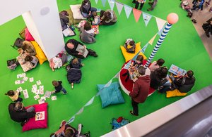 El festival ofrece un espacio para los niños más pequeños.