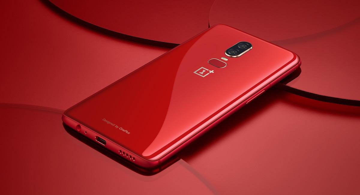 El OnePlus 6 en versión roja