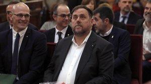 Oriol Junqueras, en el Tribunal Supremo.