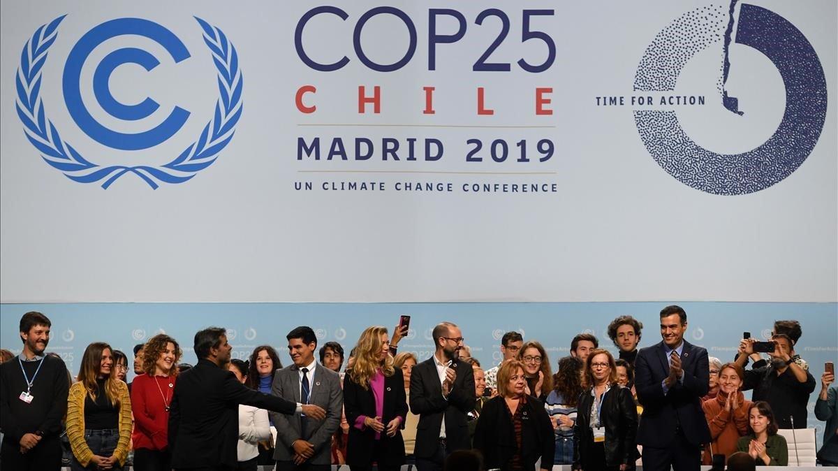 Pedro Sánchez enlas instalaciones que acoge lacumbre del clima COP25.