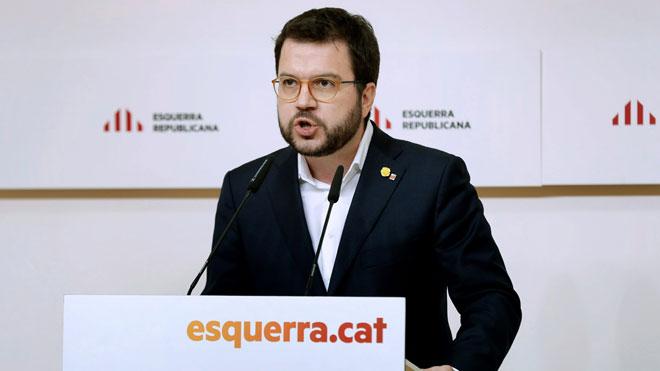 Pere Aragonès: ERC se mantiene en el acuerdo con el PSOE.