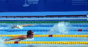 Un plano de Mireia Belmonte en la cita de los Juegos Mediterráneos