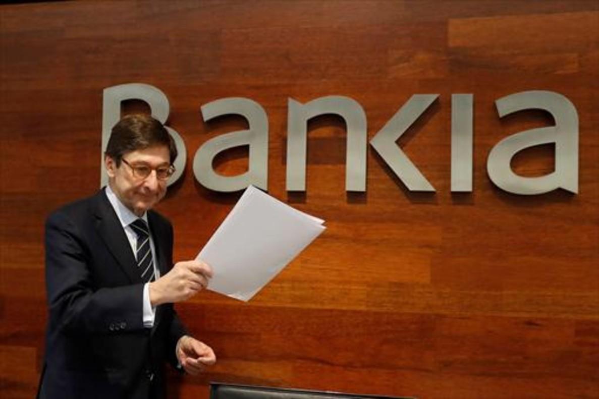 El presidente de Bankia, José Ignacio Goirigolzarri, el pasado mes de febrero, en Madrid.