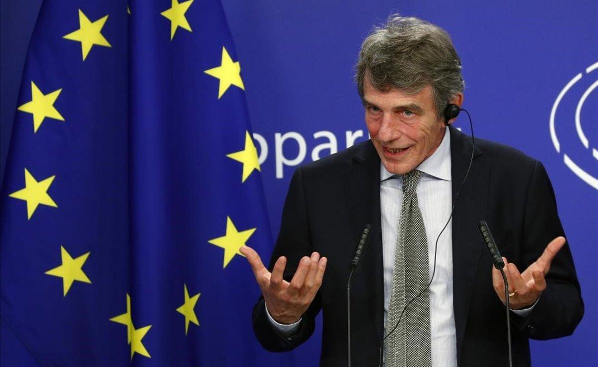 El presidente del Parlamento Europeo, David Sassoli, en Bruselas.