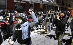 Protestas en Filadelfia el martes 27 de octubre por la muerte de un hombre negro abatido por la policía.