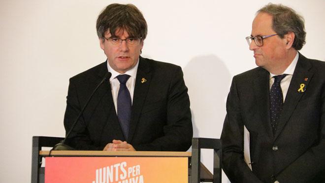 Puigdemont ha dicho este lunes que nunca ha descartado presentarse como candidato para las próximas elecciones europeas de mayo.