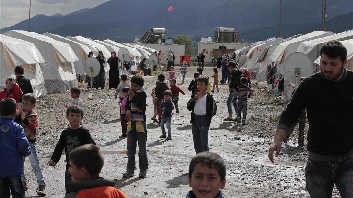 Refugiados sirios en un campamento en Islahniye, en el sureste de Turquía, en el 2016.