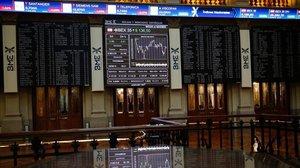 Imagen del salón de la Bolsa de Madrid.