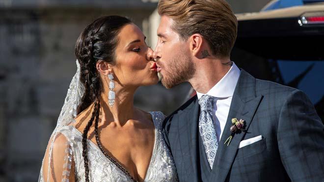 Sergio Ramos y Pilar Rubio ya son marido y mujer.
