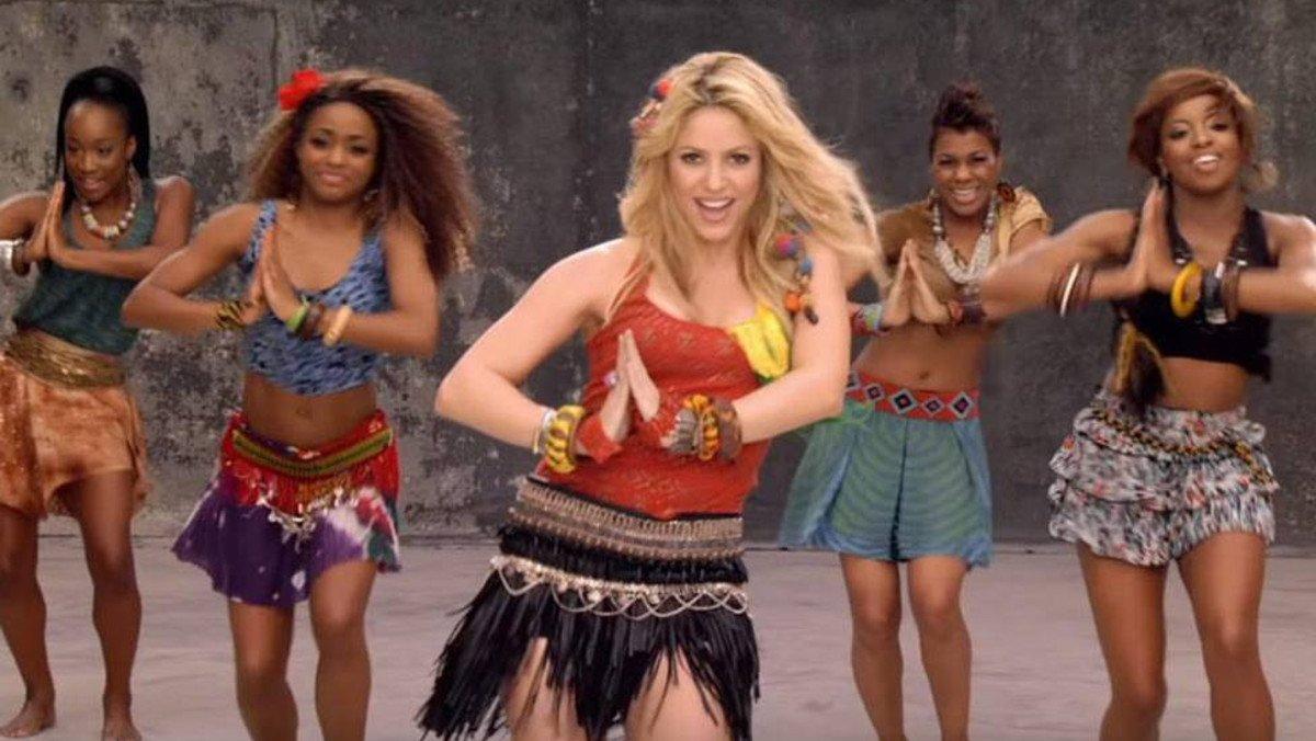 Shakira, en el videoclip del 'Waka waka'.