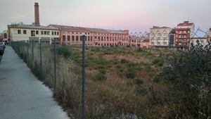 El solar de Can Fàbregas de Mataró, on teòricament s'hauria d'ubicarEl Corte Inglés a la capital del Maresme.