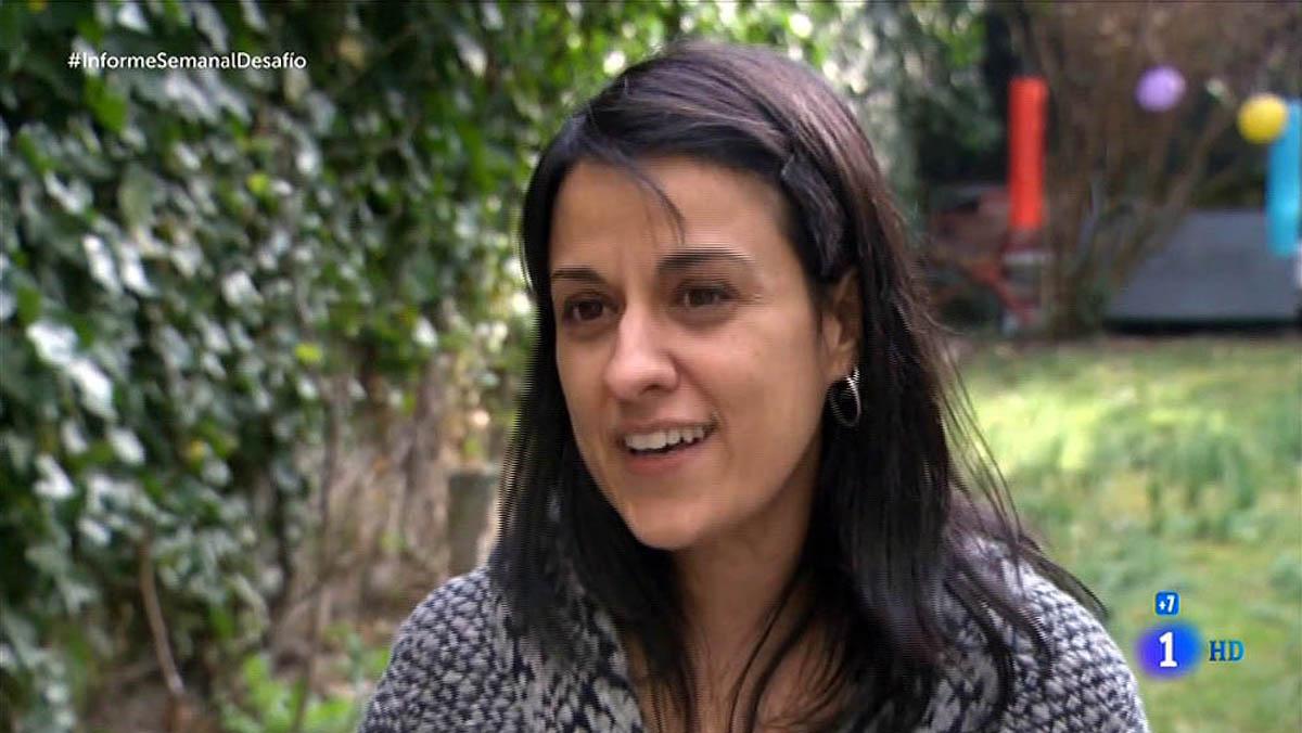 Anna Gabriel, diseccionada en Informe semanal (TVE-1).