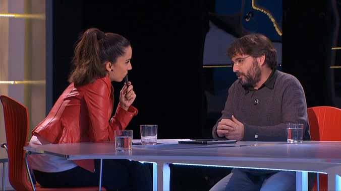 Jordi Évole con Laura Rosel en 'FAQS' (TV-3).