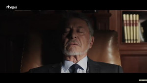 El actor Jaime Blanch, en el vídeo promocional de la tercera temporada de la serie de TVE 'El Ministerio del Tiempo'.