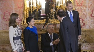 El presidente de Ecuador, Lenín Moreno, durante su visita oficial a España.