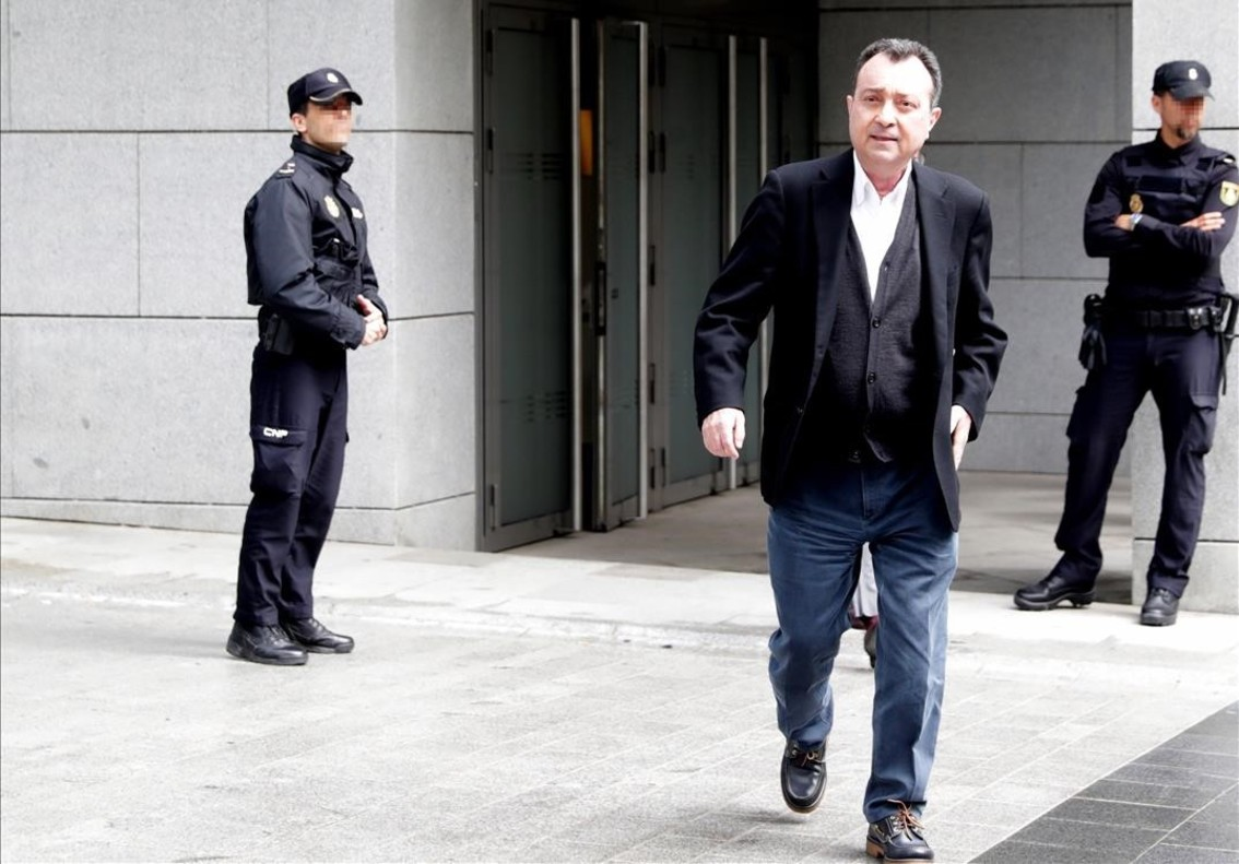 Manuel Cobo, a su salida de la Audiencia Nacional tras declarar por el caso Lezo.
