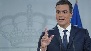 Pedro Sánchez, el pasado 9 de octubre en el Palacio de la Moncloa.