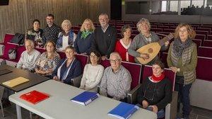 Los integrantes del coroTaliqual, de personas con afasia, enOlot.
