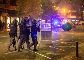 Unos 150 radicales han protagonizado los disturbios nocturnos en Logroño.