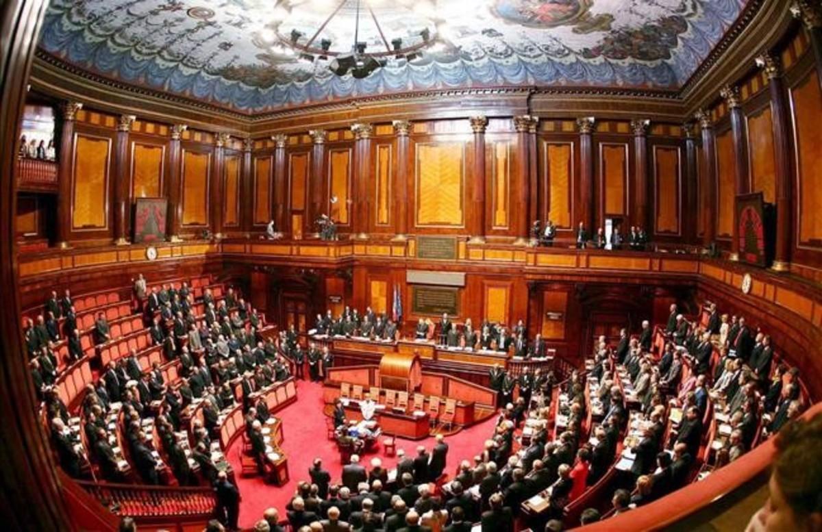 Vista general del Senado italiano, en Roma, en una imagen de archivo.