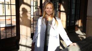 La psiquiatra Aina Fernández Vidal, responsable de la unidad de prevención del suicidio del Hospital de la Santa Creu i Sant Pau.