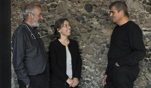 Ramon Vilalta, Carme Pigem y Rafael Aranda, los tres arquitectos del estudio RCR de Olot.