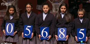 05.685, primer premi del sorteig de la loteria del Nen