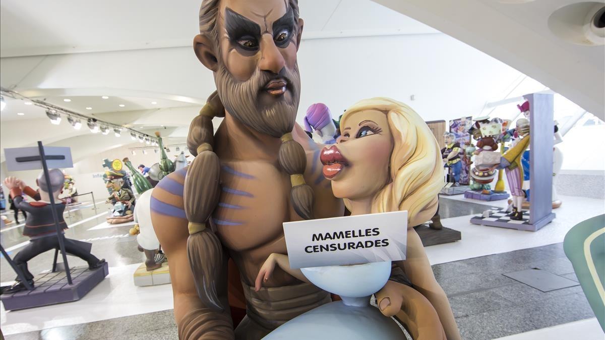 Una de las figuras de la Exposición del Ninot.