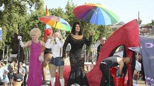 Manifestación del Pride en Barcelona el año pasado.