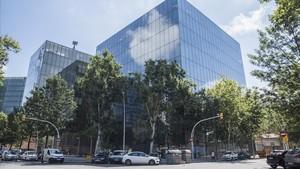 Sede de WeWork en el 22@, edifico del grupo Castellví.