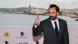 Nicolas Cage este sábado en Sitges.